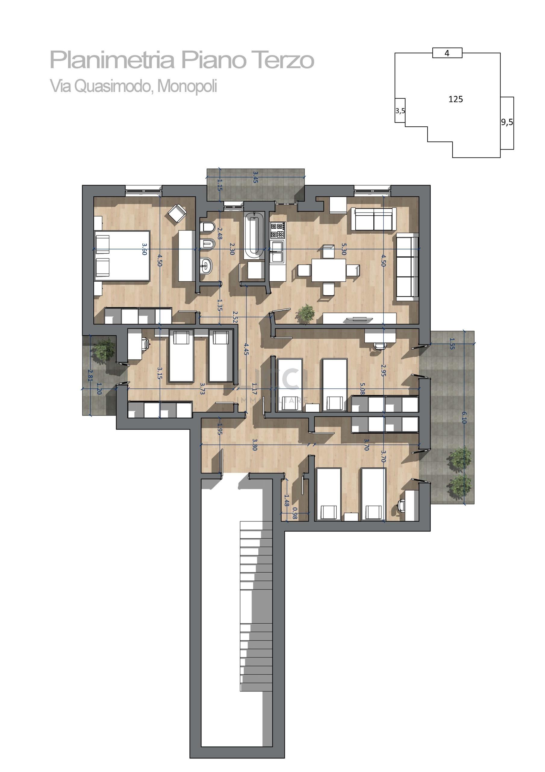Appartamento a Monopoli Via Salvatore Quasimodo 14, Zona Sud